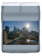 Walnut Street Sunrise From University City Duvet Cover