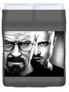Walt And Jesse Duvet Cover
