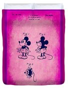 Walt Disney Mickey Mouse Toy Patent 2g Duvet Cover