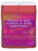 Walt Whitman Quote Typewriter Duvet Cover