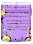 Waltz Of The Flowers Dancing Iris Duvet Cover