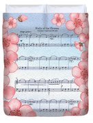 Waltz Of The Flowers Dancing Pink Duvet Cover
