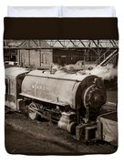 Wanamie Pennsylvania Coal Mine Locomotive Lokey 1969... Duvet Cover