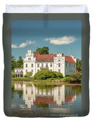 Wanas Castle And Reflection Duvet Cover