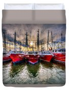 Wanchese Fishing Company Fleet Duvet Cover