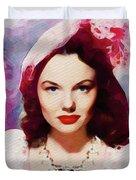 Wanda Hendrix, Vintage Movie Star Duvet Cover