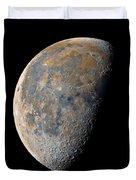 Waning Gibbous Moon / Day 21 Duvet Cover