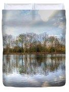 Wanstead Park Reflections Duvet Cover