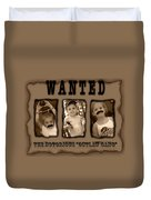 Wanted The Outlaw Gang Duvet Cover