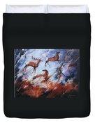 Wapiti- Petroglyph Duvet Cover