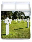 War Crosses In Normandy Duvet Cover