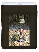 War Dogs Sacrifice Duvet Cover by Carolyn Marshall