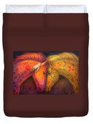 War Horse And Peace Horse Duvet Cover