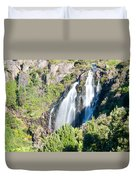 Waratah Falls Tasmania Duvet Cover