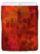 Warm Abstract 1 Duvet Cover