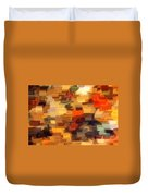 Warm Colors Abstract Duvet Cover