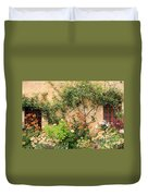Warm Colors In Mission Garden Duvet Cover