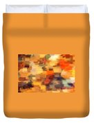 Warm Colors Under Glass - Abstract Art Duvet Cover