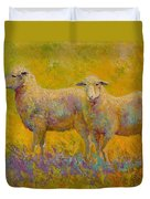 Warm Glow - Sheep Pair Duvet Cover