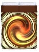 Warm Honey Swirl Duvet Cover
