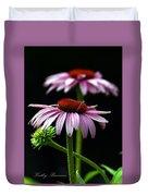 Warm Lavender Coneflower Duvet Cover