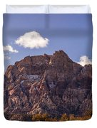 Warm Light In Red Rock Canyon Duvet Cover
