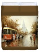 Warm Moscow Autumn Of 1953 Duvet Cover