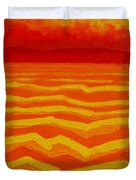 Warm Seascape Duvet Cover