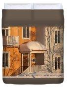Warm Vinter Facade Duvet Cover