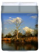 Warm Weather Clouds Duvet Cover