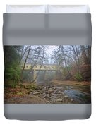 Warner Hollow Rd Covered Bridge Duvet Cover