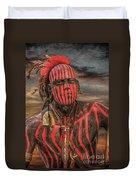 Warpath Shawnee Indian Duvet Cover by Randy Steele