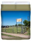 Warrenton Texas Antique Days Park Here Duvet Cover