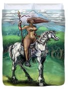 Warrior Maiden Duvet Cover