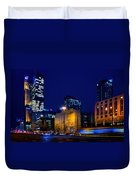 Warsaw Downtown Duvet Cover by Tomasz Dziubinski