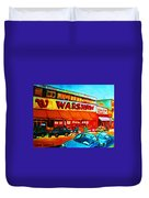 Warshaws Fruitstore On Main Street Duvet Cover