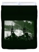 Warships At Twilight Duvet Cover