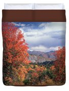 212m45-wasatch Mountains In Autumn  Duvet Cover