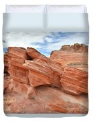 Wash 3 Beehives In Valley Of Fire Duvet Cover