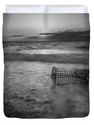 Washed Up Crab Cage 16x9 Bw Duvet Cover