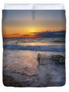 Washed Up Crab Trap Duvet Cover
