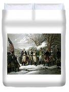 Washington And His Generals  Duvet Cover