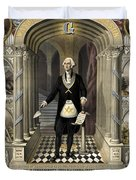 Washington As A Freemason Duvet Cover