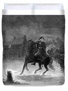 Washington At The Battle Of Trenton Duvet Cover