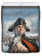 Washington At Valley Forge Duvet Cover
