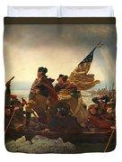 Washington Crossing The Delaware Duvet Cover