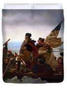 Washington Crossing The Delaware Painting - Emanuel Gottlieb Leutze Duvet Cover