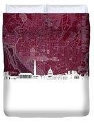 Washington Dc Skyline Map 3 Duvet Cover