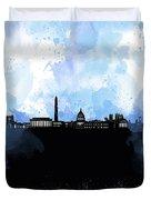Washington Dc Skyline Minimalism 8 Duvet Cover