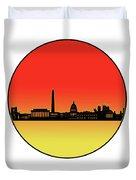 Washington Dc Skyline Minimalism 9 Duvet Cover
